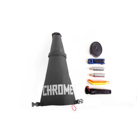 Chrome Knurled Seat Bag Black